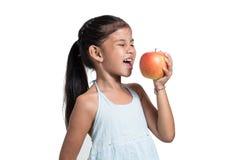 我将吃一个苹果 图库摄影