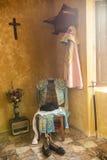 我带来了toreador& x27; 在一把老椅子的s,安达卢西亚的经典bullfig 库存照片