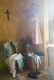 我带来了toreador& x27; 在一把老椅子的s,安达卢西亚的经典bullfig 免版税库存图片