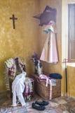 我带来了toreador& x27; 在一把老椅子的s,安达卢西亚的经典bullfig 免版税库存照片