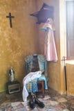 我带来了toreador& x27; 在一把老椅子的s,安达卢西亚的经典bullfig 图库摄影