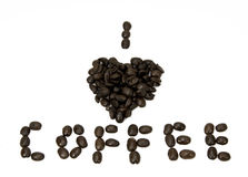 我心脏咖啡 免版税库存照片