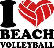 我心脏沙滩排球 皇族释放例证