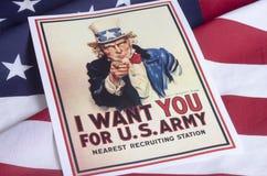 我想要您-山姆大叔 免版税库存照片