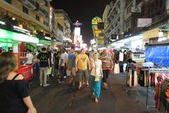 我我自己在曼谷街道上  库存图片