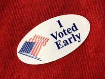 我投票了早期的sitcker 库存图片