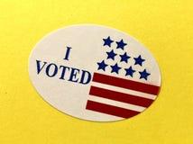 我投票了贴纸 图库摄影