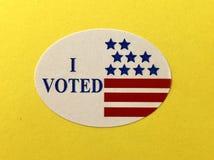 我投票了贴纸 免版税库存照片