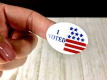 我投票了贴纸 免版税图库摄影