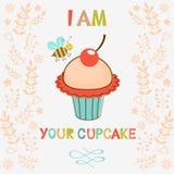 我是您的杯形蛋糕 库存照片