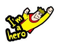我是英雄消息 库存例证
