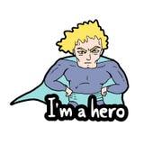 我是英雄消息 皇族释放例证