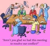 我是高兴的我们开了解决此的会议冲突 库存例证