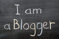 我是blogger 免版税库存图片