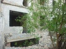 我曾经居住的被破坏的房子 免版税库存图片