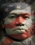 我有一个梦想,马丁路德金小 库存照片