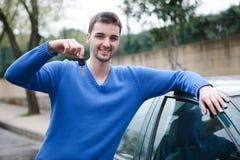 我有新的汽车 免版税图库摄影