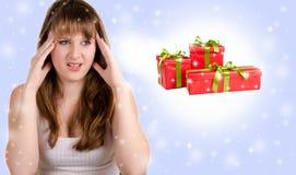 我有从圣诞节的头疼 库存照片