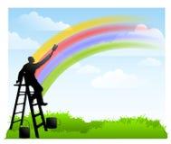 我油漆彩虹 库存照片
