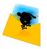 我溜冰者速度 免版税库存图片