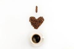 我爱与被隔绝的咖啡的咖啡概念 免版税库存图片