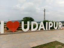 我爱世界的乌代浦美丽的市 库存照片