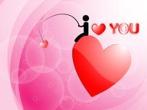 我爱你和心脏背景 库存照片