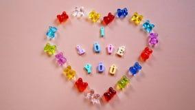 我爱你在我的心脏 免版税库存照片
