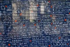 我爱你墙壁巴黎(Le mur des je t'aime)在巴黎,法国 免版税库存照片