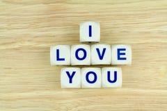 我爱你字母表块 免版税图库摄影