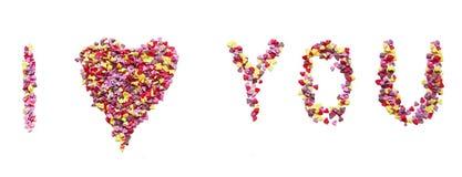 我爱你心脏candys 库存图片