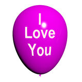 我爱你气球代表恋人和夫妇 免版税库存照片