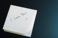 我爱你贴纸 免版税库存照片