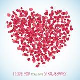 我爱你更多比草莓 复制空间 皇族释放例证