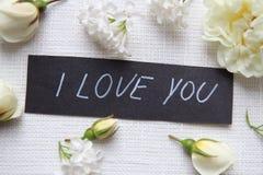 我爱你 空白的玫瑰 库存图片