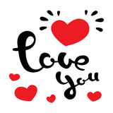我爱你 美好的字法 图库摄影