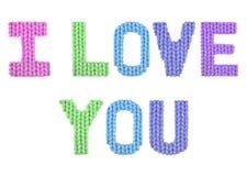 我爱你 颜色彩虹 免版税库存图片