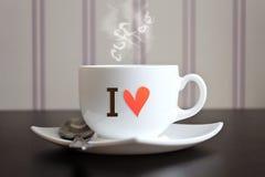 我爱咖啡 库存照片