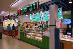 我爱国家咖啡馆和唐人街明确在檀香山丙氨酸M 库存图片