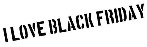 我爱在白色的黑星期五红色不加考虑表赞同的人 图库摄影