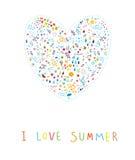 我爱夏天! 库存图片
