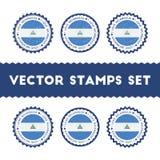我爱尼加拉瓜被设置的传染媒介邮票 皇族释放例证