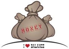 我爱平衡 向量例证