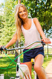 我爱我新的自行车! 库存照片