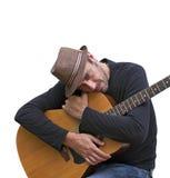 我爱我的吉他 免版税库存图片