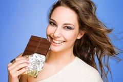 我爱我的巧克力。 免版税库存照片