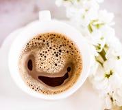 我爱我的早晨咖啡 库存图片