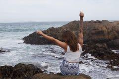 我爱我的海滩生活! 免版税库存图片