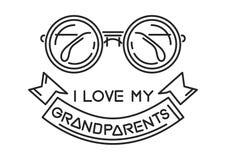 我爱我的祖父母 向量例证