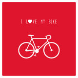 我爱我的bike1 免版税库存照片